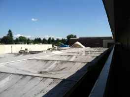 Crummy Roof from the Math Classroom Balconty