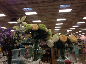 Silk flowers that caught my attention in the grocery store, of all places.