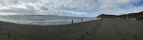Panorama of Ebey's Landing. Dad picked a great place for us to visit him.